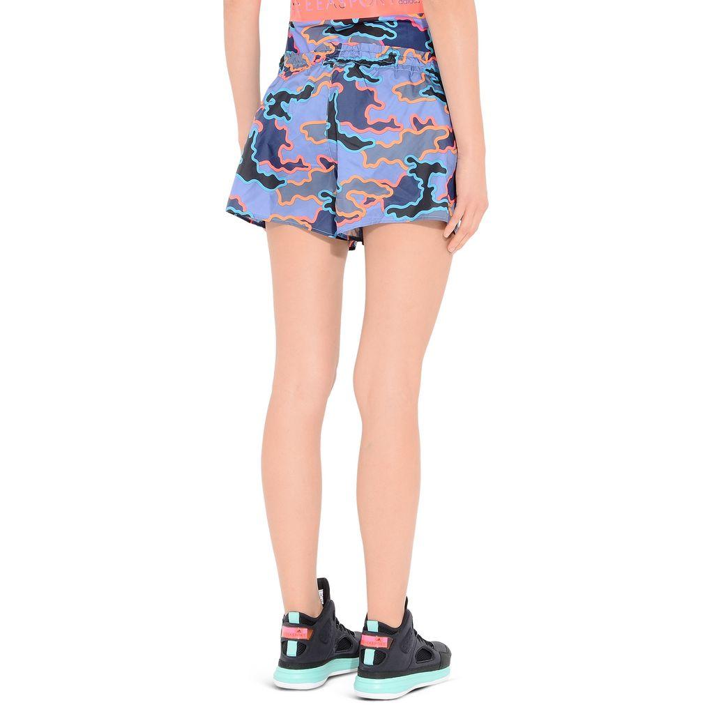 Indigo Camo woven shorts - ADIDAS by STELLA McCARTNEY