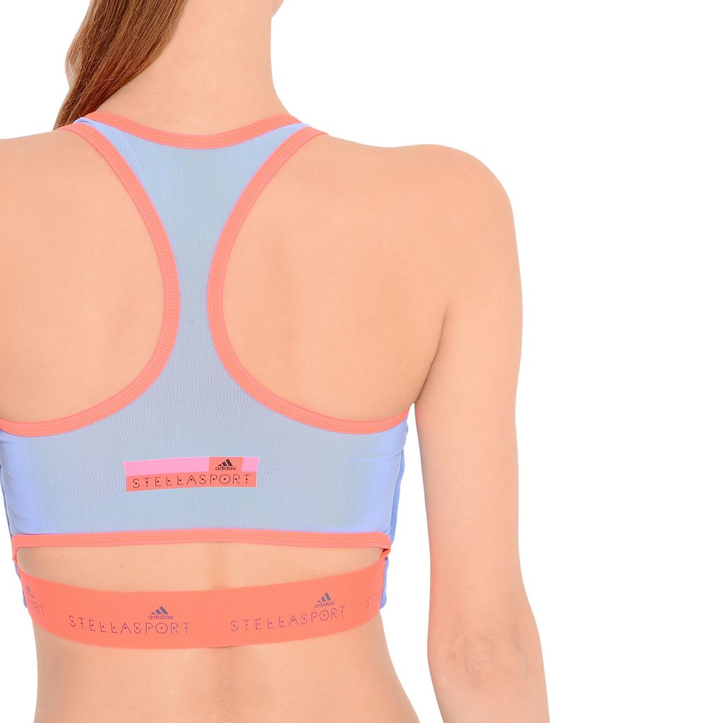 Neon blue cropped bra - ADIDAS by STELLA McCARTNEY