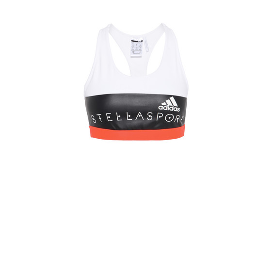 White logo print Sports Bra
