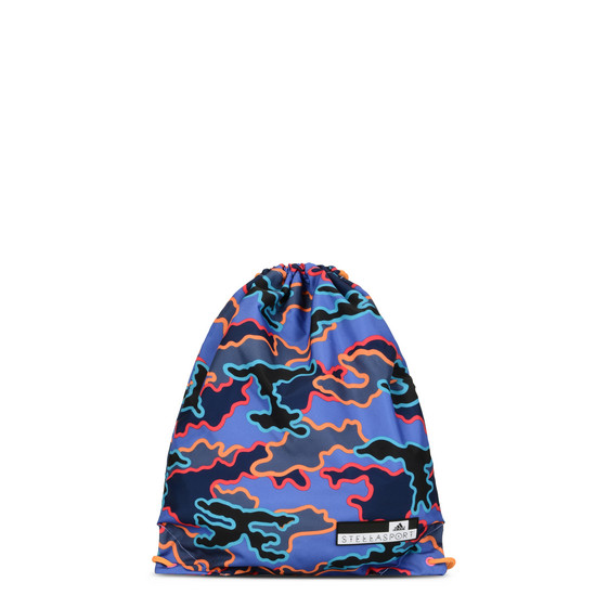 Indigo Camo Drawstring gym bag