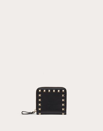 VALENTINO Rockstud Compact Wallet 46487843FU