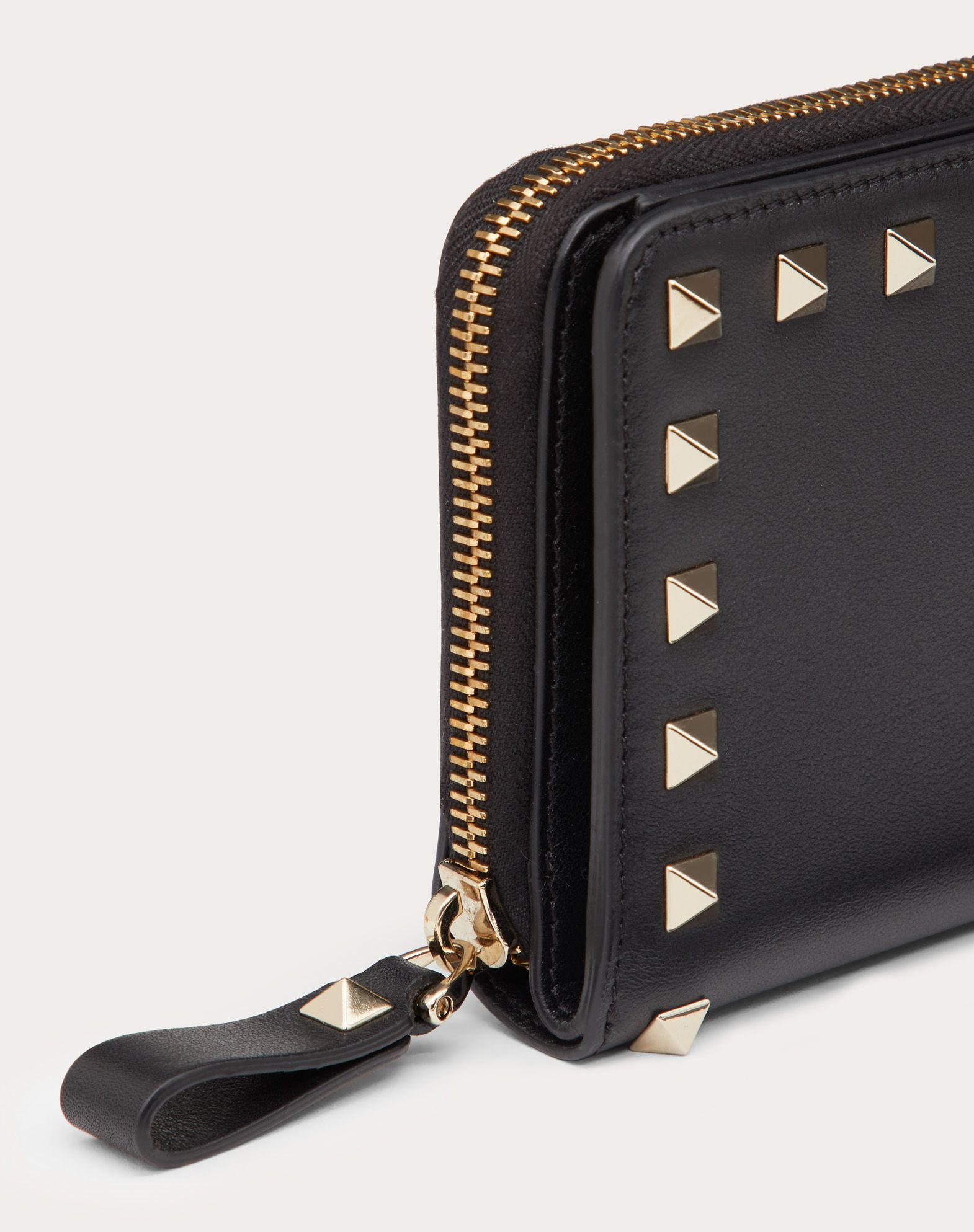 VALENTINO Studs Logo Solid color Internal card slots  46487843fu