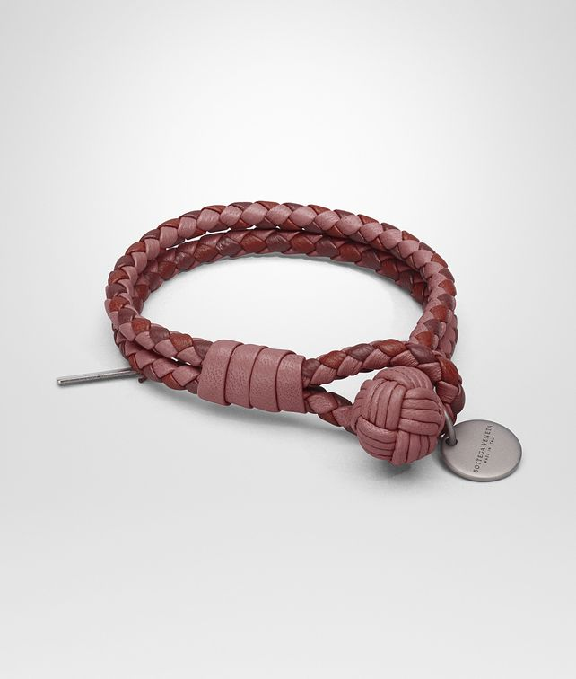 BOTTEGA VENETA BRACELET IN DUSTY ROSE PETRA BAROLO INTRECCIATO NAPPA CLUB LAMBSKIN Keyring or Bracelets E fp