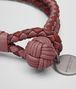 BOTTEGA VENETA BRACELET IN DUSTY ROSE PETRA BAROLO INTRECCIATO NAPPA CLUB LAMBSKIN Keyring or Bracelets E ap