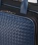 BOTTEGA VENETA TRAVEL BAG IN TOURMALINE TECHNICAL CANVAS AND PACIFIC INTRECCIATO CALF Trolley and Carry-on bag E ap