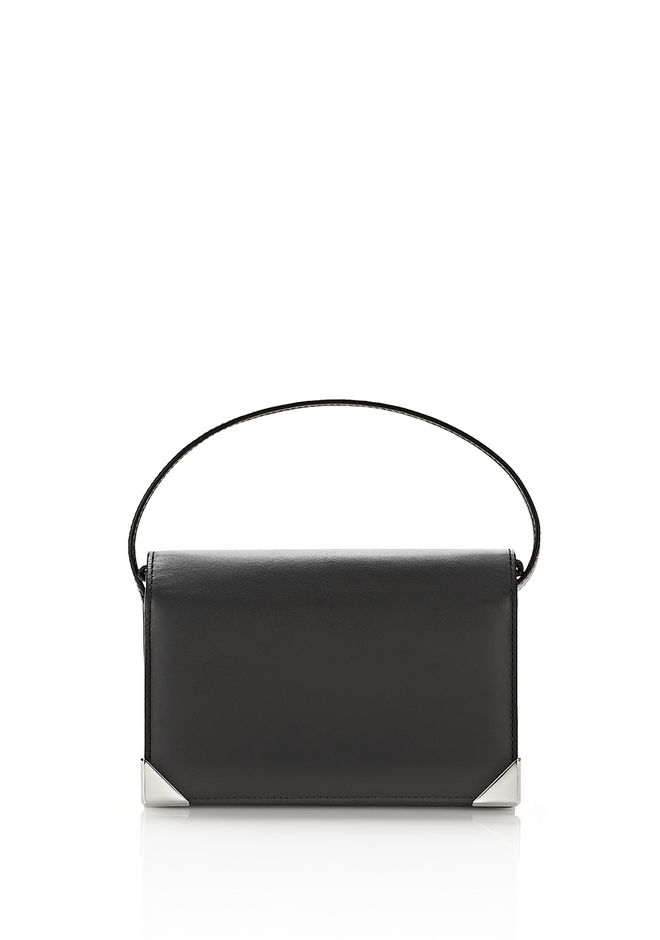 ALEXANDER WANG KLEINLEDERWAREN Für-sie PRISMA BIKER PURSE IN BLACK WITH CHAIN STRAP