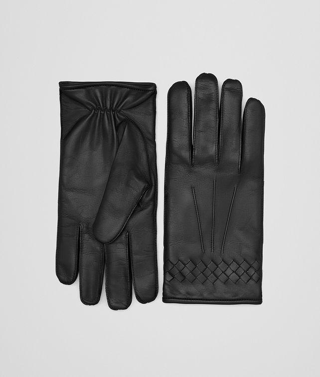 BOTTEGA VENETA NERO NAPPA GLOVE Hat or gloves Man fp