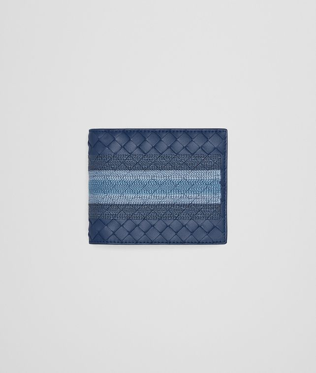 BOTTEGA VENETA BI-FOLD WALLET IN PACIFIC INTRECCIATO NAPPA, EMBROIDERED DETAILS Bi-fold Wallet U fp