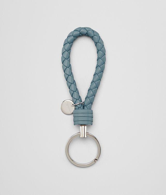 BOTTEGA VENETA KEY RING IN AIR FORCE BLUE INTRECCIATO NAPPA Keyring or Bracelets E fp