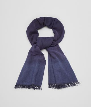 SCARF IN MIDNIGHT BLUE WOOL CASHMERE