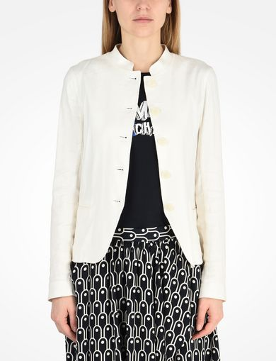 ARMANI EXCHANGE LINEN BLAZER Woman front