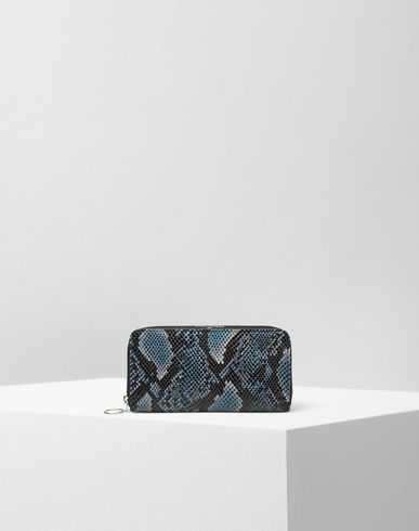 MM6 by MAISON MARGIELA Wallets D Shiny snake wallet with metallic details f