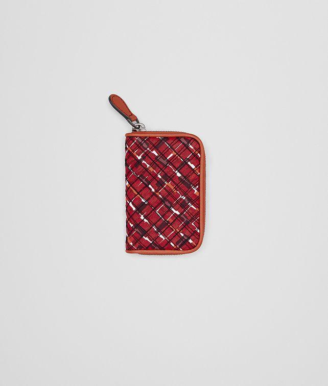 BOTTEGA VENETA COIN PURSE IN CHINA RED EMBROIDERED NAPPA Mini Wallet or Coin Purse Woman fp