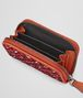 BOTTEGA VENETA COIN PURSE IN CHINA RED EMBROIDERED NAPPA Mini Wallet or Coin Purse D ap