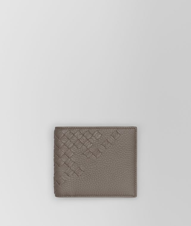 BOTTEGA VENETA BI-FOLD WALLET IN STEEL CERVO, INTRECCIATO DETAILS Bi-fold Wallet Man fp