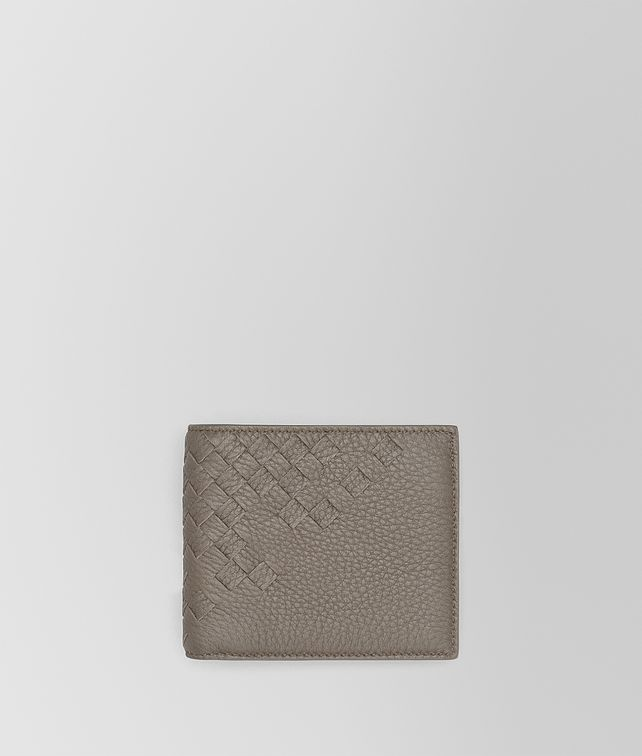 BOTTEGA VENETA BI-FOLD WALLET WITH COIN PURSE IN STEEL CERVO, INTRECCIATO DETAILS Bi-fold Wallet Man fp