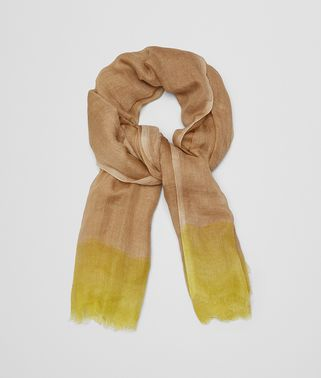 SCARF IN ROPE YELLOW CASHMERE SILK
