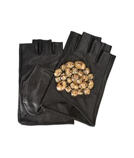 KARL LAGERFELD GEO STONES FINGERLESS GLOVES