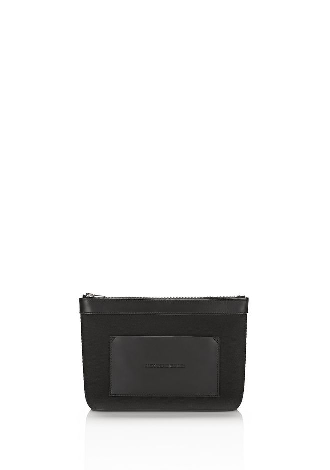 ALEXANDER WANG accessories BLACK CANVAS POUCH