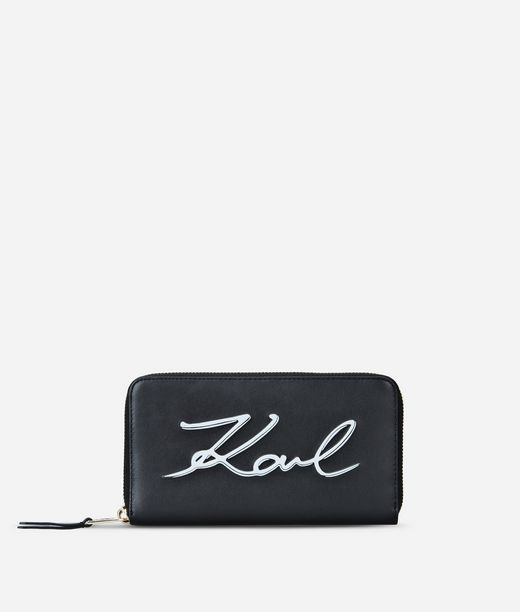 KARL LAGERFELD K/SIGNATURE ZIP AROUND WALLET 12_f