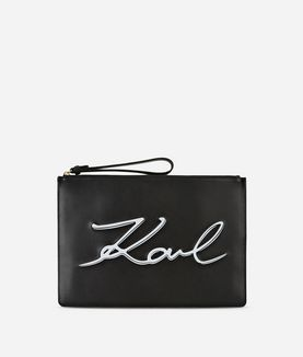 KARL LAGERFELD K/SIGNATURE POUCH