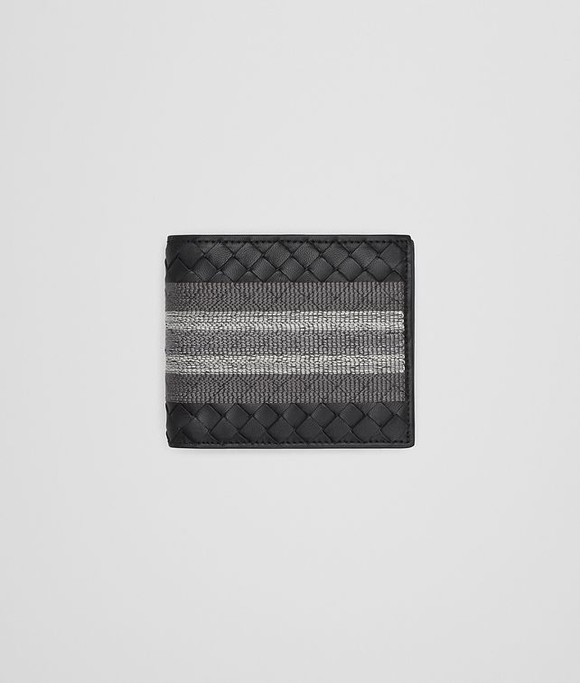 BOTTEGA VENETA BI-FOLD WALLET WITH COIN PURSE IN NERO INTRECCIATO NAPPA, EMBROIDERED DETAILS Bi-fold Wallet U fp