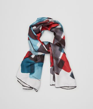 FOULARD IN BLUETTE RED SILK