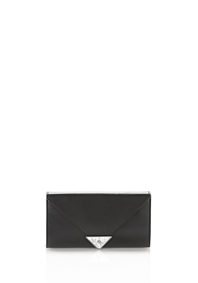 ALEXANDER WANG exclusives EXCLUSIVE PRISMA ENVELOPE WALLET WITH MARBLE DETAIL