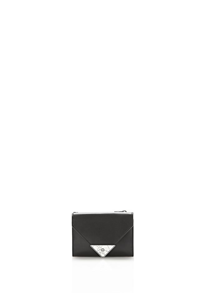 ALEXANDER WANG exclusives EXCLUSIVE PRISMA ENVELOPE COMPACT WITH MARBLE DETAIL