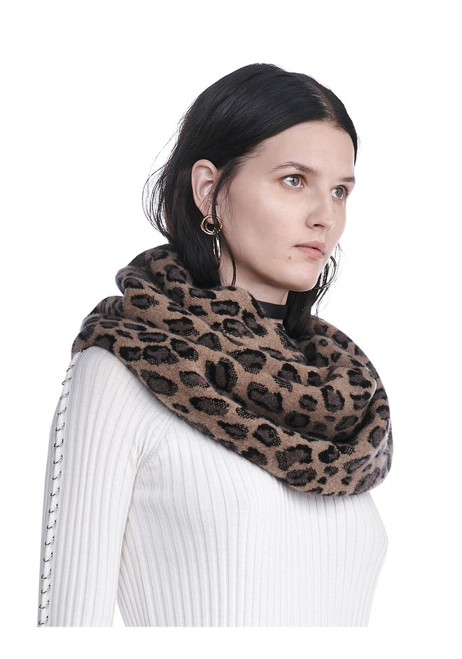 ALEXANDER WANG knitwear-ready-to-wear-woman LEOPARD ENDLESS SCARF