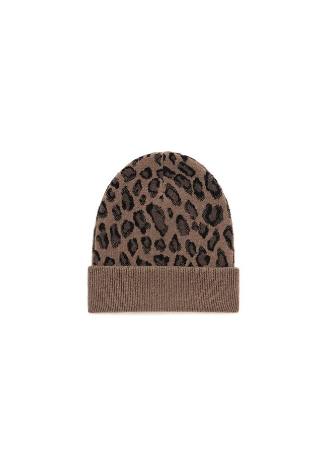 ALEXANDER WANG new-arrivals-accessories-woman LEOPARD BEANIE