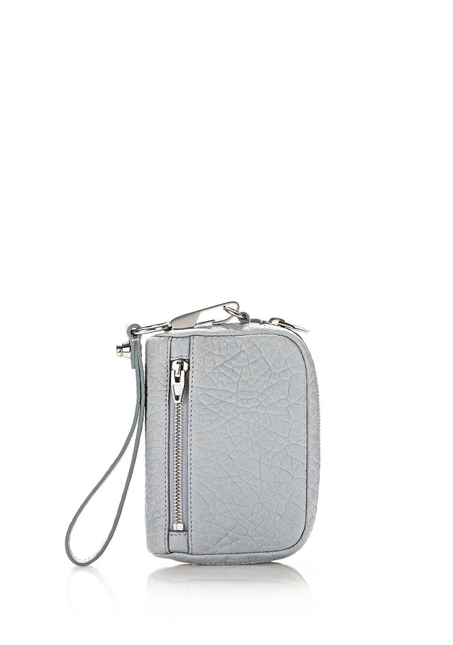 ALEXANDER WANG SMALL LEATHER GOODS Women LARGE FUMO WALLET IN PEBBLED POWDER WITH RHODIUM