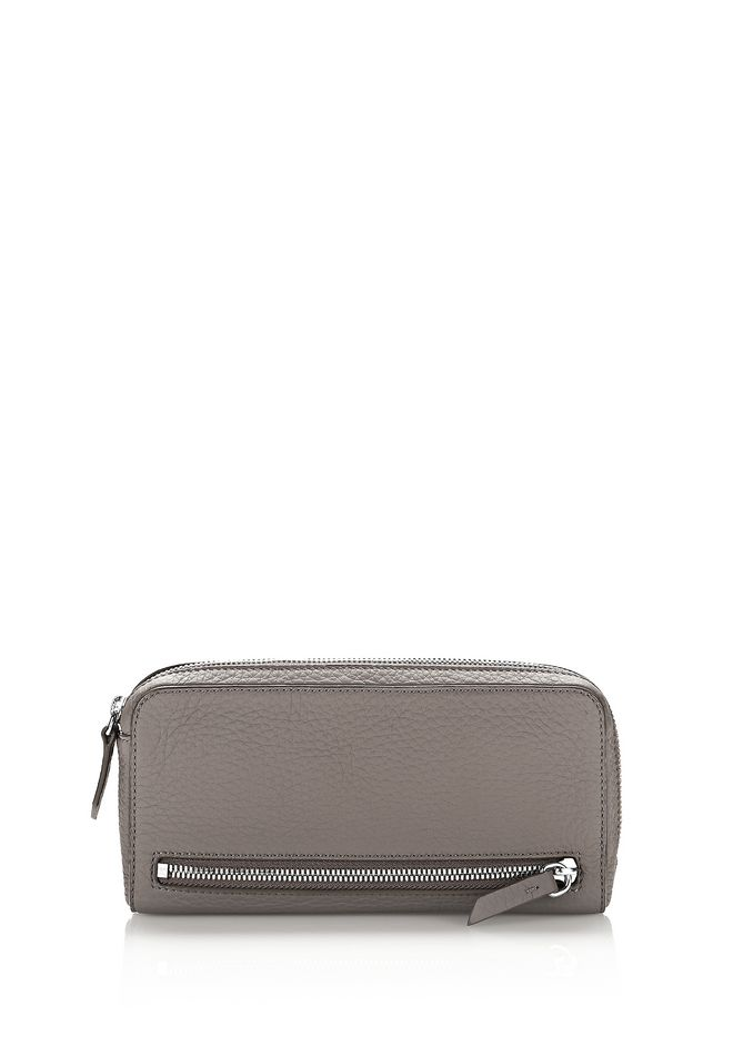 ALEXANDER WANG KLEINLEDERWAREN Für-sie FUMO CONTINENTAL WALLET IN MATTE MINK WITH RHODIUM