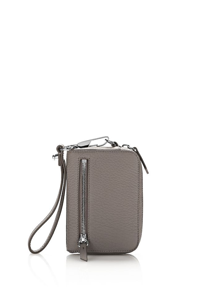 ALEXANDER WANG SMALL LEATHER GOODS Women LARGE FUMO WALLET IN MATTE MINK WITH RHODIUM