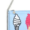STELLA McCARTNEY Sky Blue Falabella Ice Cream Purse Wallets D e