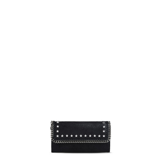All Over Studs Continental Flap Wallet