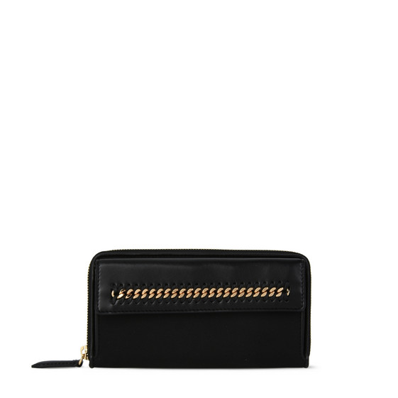 Black Falabella GO Zip Around Wallet