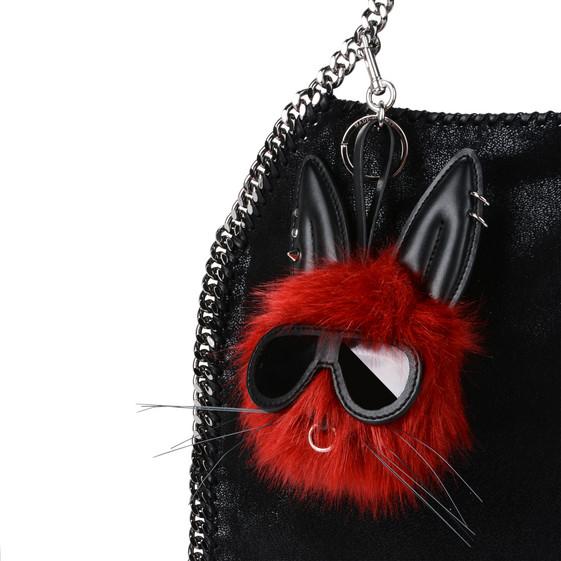 Fur Free Fur Rabbit Keychain