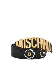 Leather Belt Woman MOSCHINO