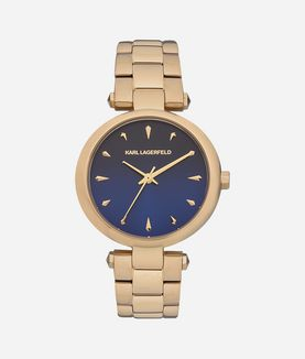 KARL LAGERFELD AURELIE GOLD MIDNIGHT BLUE