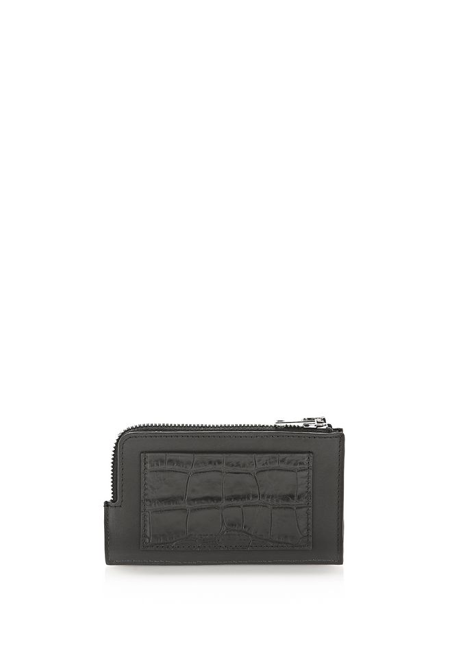 ALEXANDER WANG SMALL LEATHER GOODS Men CROC EMBOSSED CARDHOLDER
