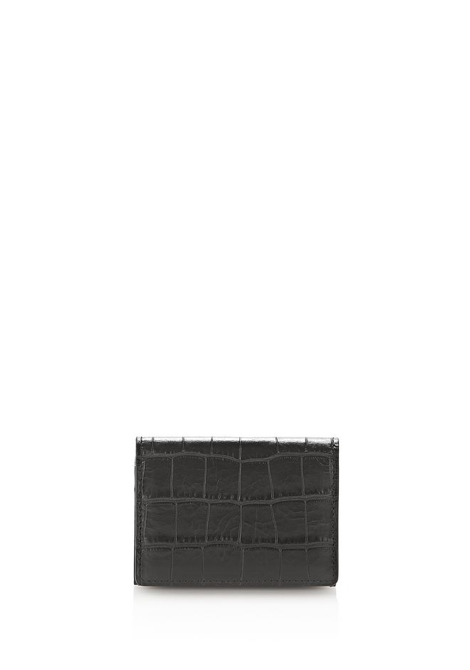 ALEXANDER WANG SMALL LEATHER GOODS Men CROC EMBOSSED FLAP CARDHOLDER