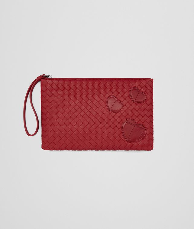 BOTTEGA VENETA DOCUMENT CASE IN CHINA RED INTRECCIATO NAPPA LEATHER , CROCODILE DETAILS Other Leather Accessory D fp