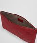 BOTTEGA VENETA DOCUMENT CASE IN CHINA RED INTRECCIATO NAPPA LEATHER , CROCODILE DETAILS Other Leather Accessory D ap