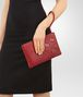 BOTTEGA VENETA DOCUMENT CASE IN CHINA RED INTRECCIATO NAPPA LEATHER , CROCODILE DETAILS Other Leather Accessory D lp