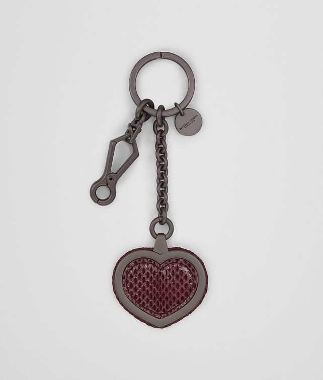 BOTTEGA VENETA KEY RING IN BAROLO INTRECCIATO NAPPA LEATHER AND AYERS Keyring or Bracelets Woman fp