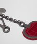 BOTTEGA VENETA KEY RING IN CHINA RED INTRECCIATO NAPPA LEATHER AND CROCODILE Keyring or Bracelets Woman ap