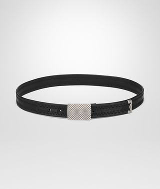 BELT IN NERO NAPPA LEATHER CROCODILE