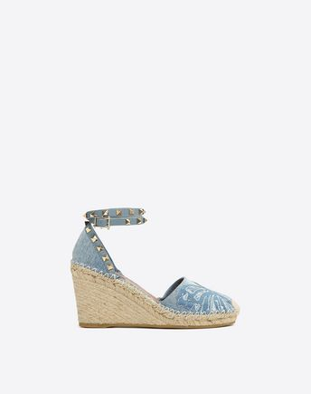 VALENTINO Denim Camubutterfly Wedge  46501687CQ