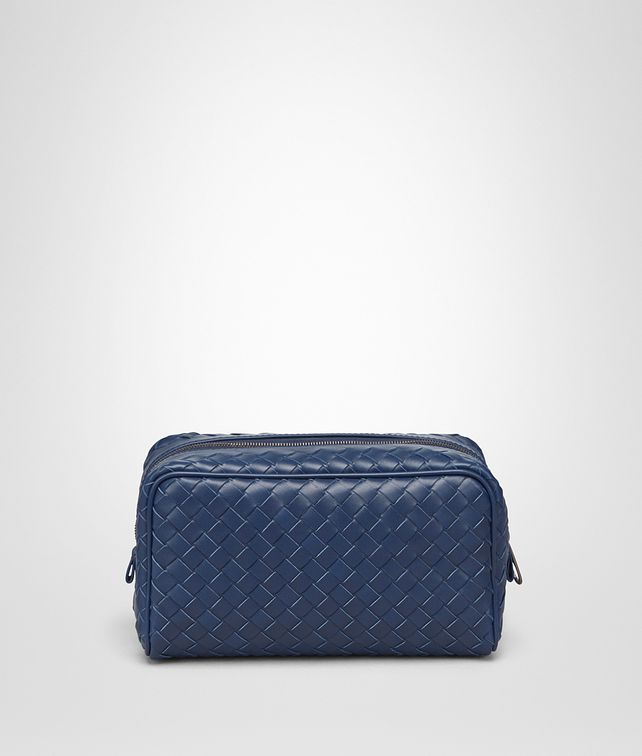 BOTTEGA VENETA TOILETRY CASE IN PACIFIC INTRECCIATO VN Other Leather Accessory U fp
